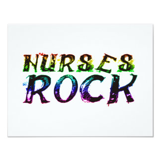 NURSES ROCK WITH COLOR 4.25X5.5 PAPER INVITATION CARD