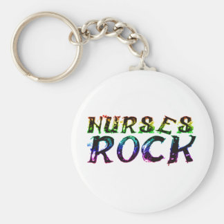 NURSES ROCK WITH COLOR KEYCHAIN