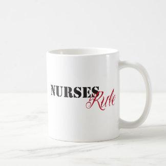 nurses rule coffee mug