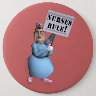 Nurses Rule! Pinback Button