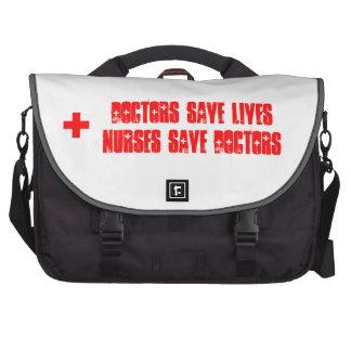 Nurses Save Doctors - Commuter Bag