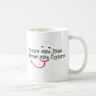 Nurses save Doctors Coffee Mugs