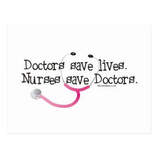 Nurses save Doctors Post Card