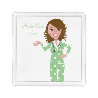 Nurses Save Lives Acrylic Tray