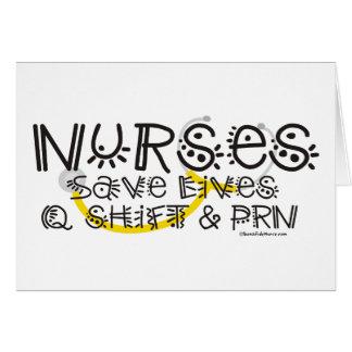 Nurses Save Lives Greeting Card