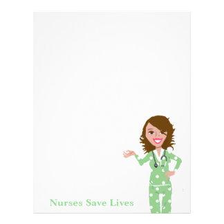 Nurses Save Lives Custom Letterhead