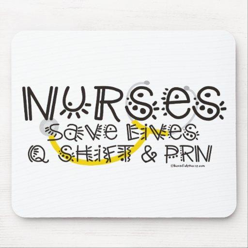 Nurses Save Lives Mouse Pads