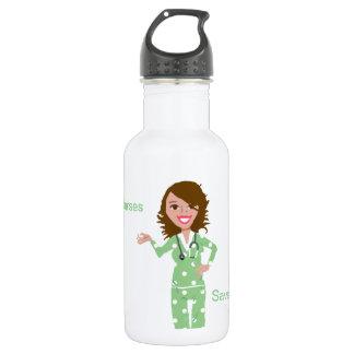 Nurses Save Lives 18oz Water Bottle