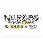 Nurses Save Lives Post Card