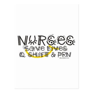 Nurses Save Lives Postcard