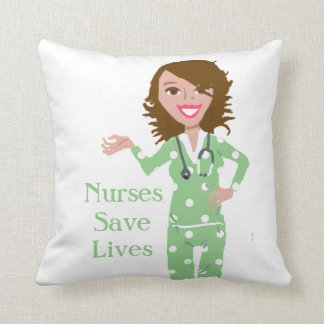 Nurses Save Lives Throw Pillow