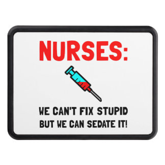Nurses Sedated Tow Hitch Cover