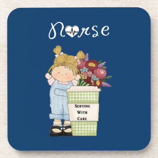 Nurses Serving With Care Beverage Coaster