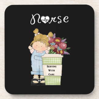 Nurses Serving With Care Drink Coaster