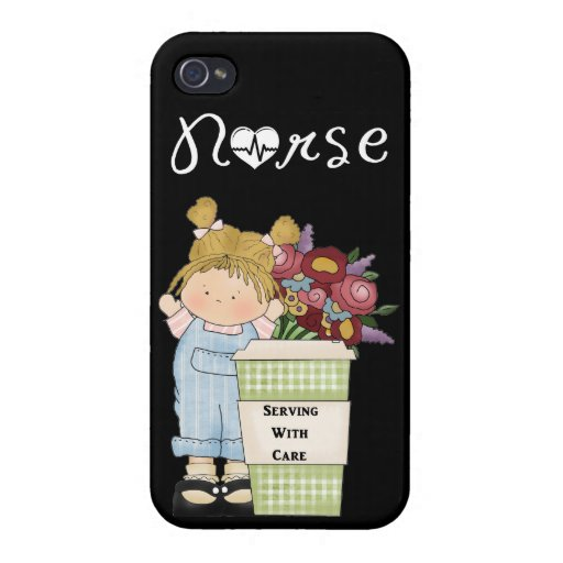 Nurses Serving With Care iPhone 4/4S Covers