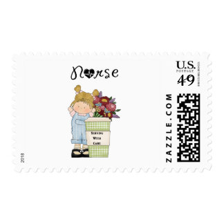 Nurses Serving With Care Postage Stamp