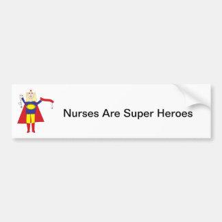 Nurses Super Hero Bumper Sticker Car Bumper Sticker