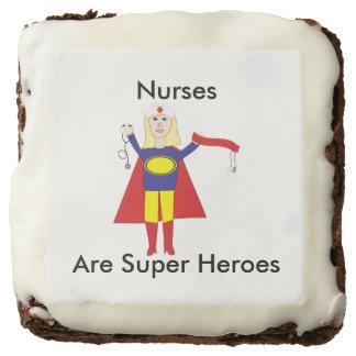 Nurses Super Heroes (Blonde) Chocolate Brownie