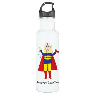 Nurses Super Heroes (Blonde) Liberty Bottle 24oz Water Bottle