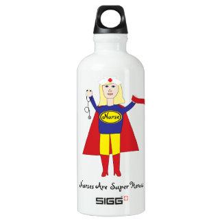 Nurses Super Heroes (Blonde) Water Bottle