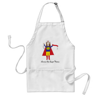 Nurses Super Heroes (Brunette) Apron