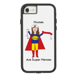 Nurses Super Heroes (Brunette) Personalize Case-Mate Tough Extreme iPhone 7 Case