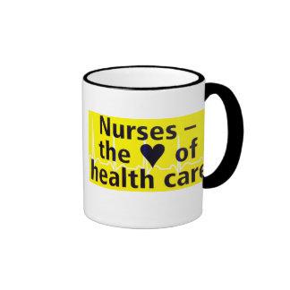 Nurses the heart of health care ringer coffee mug