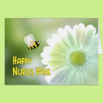 Nurses Week Bandaged Bee and Daisy Card