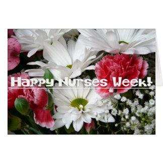Nurses Week!-Beautiful Flowers in Pink and White Greeting Card