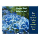 Nurses Week Celebration posters Blue Floral custom