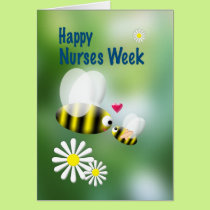 Nurses Week Cute Bees and Daisies Card