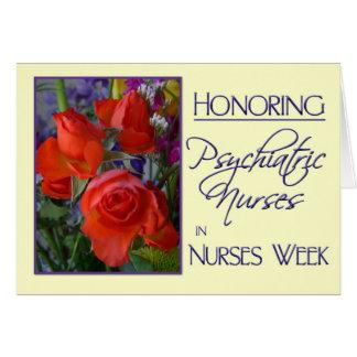 Nurses Week-Honoring Psychiatric Nurses/Floral Card