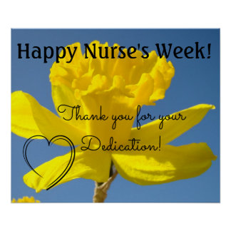 Nurse's Week oosters Thank you Dedication RN Poster