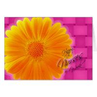 Nurses week cards greeting photo cards zazzle nurses week orange gerbera daisy greeting cards m4hsunfo