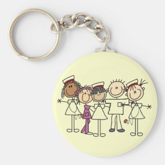 Nurses Week T-shirts and Gifts Basic Round Button Keychain