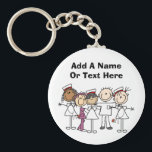 "Nurses Week T-shirts and Gifts Keychain<br><div class=""desc"">Great for nurses week, our Nurses Week T-shirts, mugs, hats, buttons, magnet, mousepads, tote bags, and other items make great gifts for nurses and can be worn all year. You can easily customize these nurse T-shirts, buttons, magnets, keychains, and other items with names or other text before ordering. Feature female...</div>"
