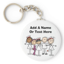 Nurses Week T-shirts and Gifts Keychain