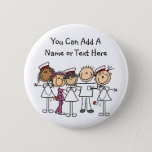 """Nurses Week T-shirts and Gifts Pinback Button<br><div class=""""desc"""">Great for nurses week, our Nurses Week T-shirts, mugs, hats, buttons, magnet, mousepads, tote bags, and other items make great gifts for nurses and can be worn all year. You can easily customize these nurse T-shirts, buttons, magnets, keychains, and other items with names or other text before ordering. Feature female...</div>"""