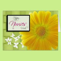 Nurses Week Yellow Gerbera Daisy Card
