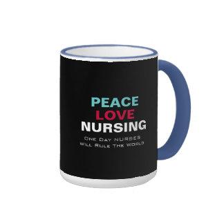 Nurses Will Rule The WORLD Peace Love Mug