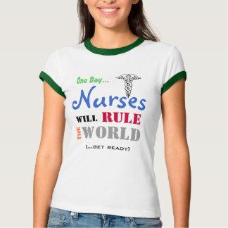 NURSES Will Rule The WORLD Ringer T-Shirt