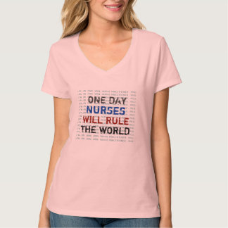 NURSES Will Rule The World V-Neck T-Shirt