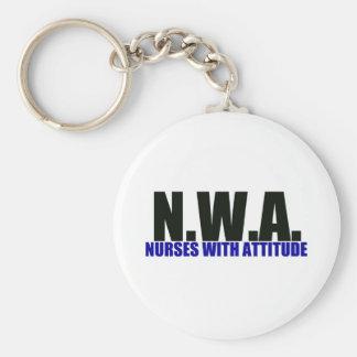 Nurses With Attitude Key Chains