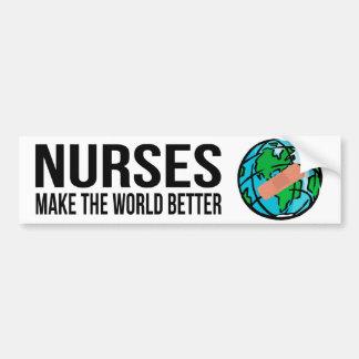 Nurses World Bumper Sticker Car Bumper Sticker