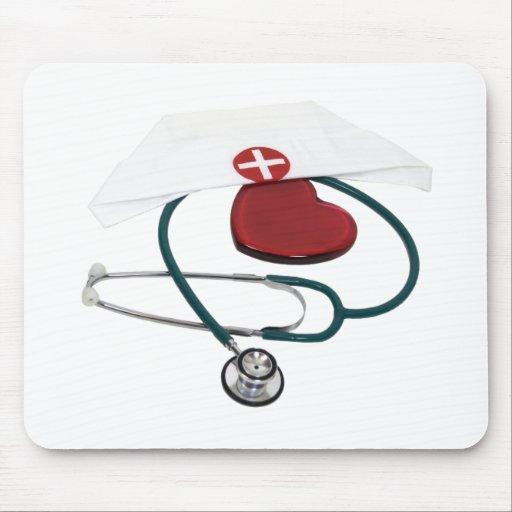 NursesHaveHeart082309 Alfombrilla De Ratón
