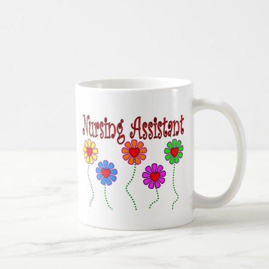 Nursing Assistant Gifts--Floral Design Coffee Mug