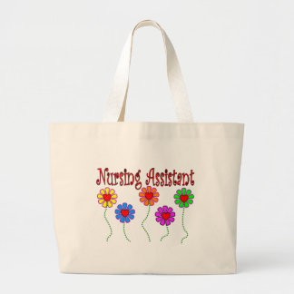 Nursing Assistant Gifts--Floral Design Large Tote Bag