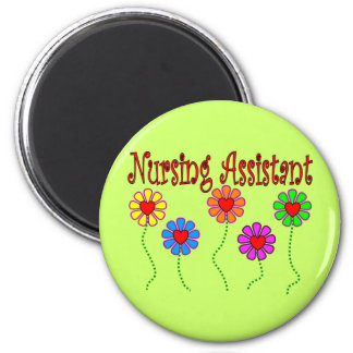 Nursing Assistant Gifts--Floral Design Magnet