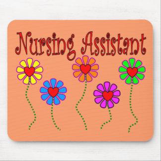 Nursing Assistant Gifts--Floral Design Mouse Pad
