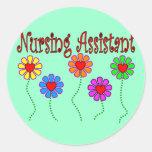 Nursing Assistant Gifts--Floral Design Sticker